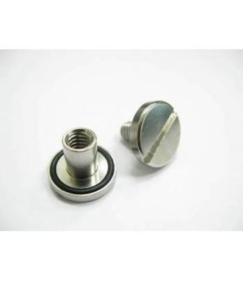 Spezialschraube und Mutter kurz (10 mm, Edelstahl) mit O-Ring