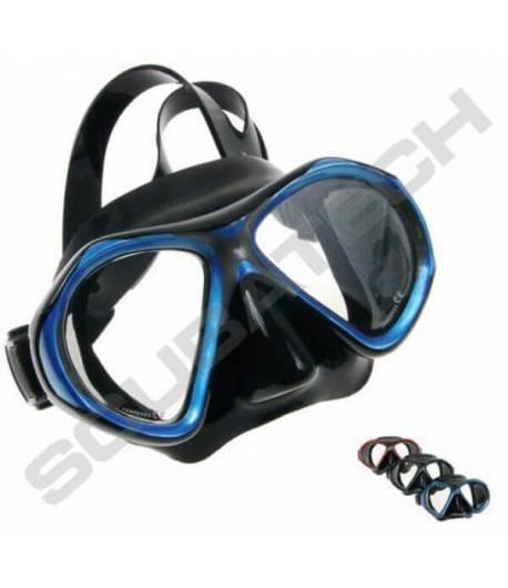 Maske Viper Schwarz mit Blauen Rahmen