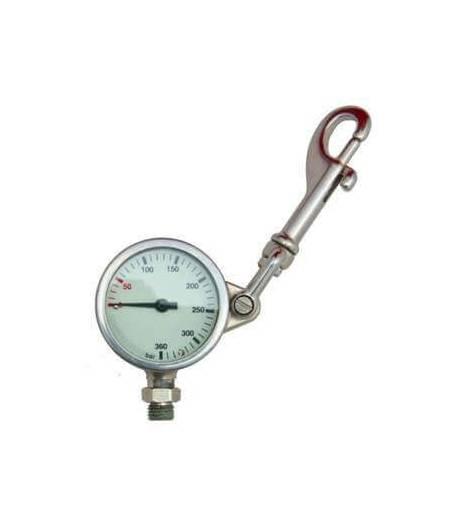 Finimeter, 52 mm, 360 bar, mit Wirbelkarabiner