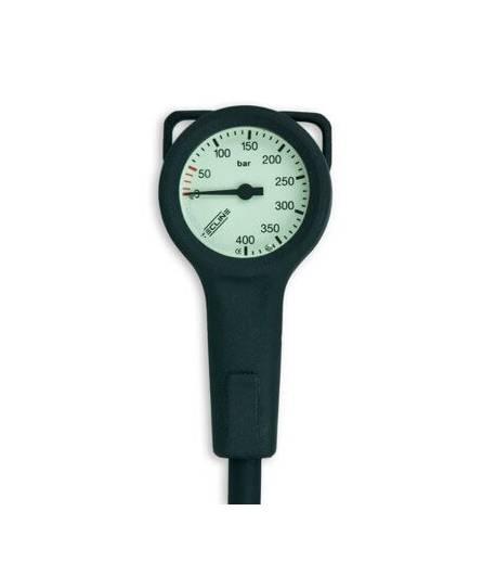 Finimeter Tecline Slim, 400 bar, 52 mm mit Schutzhülle