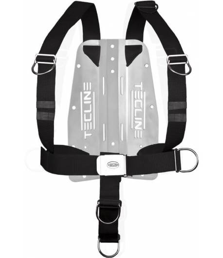 Tecline DIR Harness (extra fest) mit 3 mm-Edelstahl-Backplate