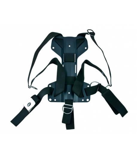 Tecline Comfort Harness mit H-förmiger 3 mm Alu Backplate