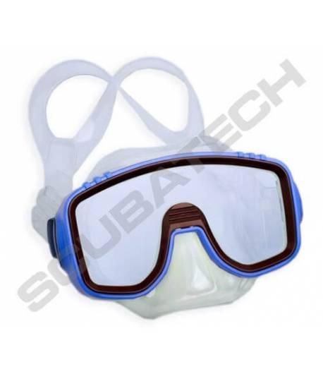 """Kindermaske """"Panda""""  durchsichtig  blauer Rahmen"""