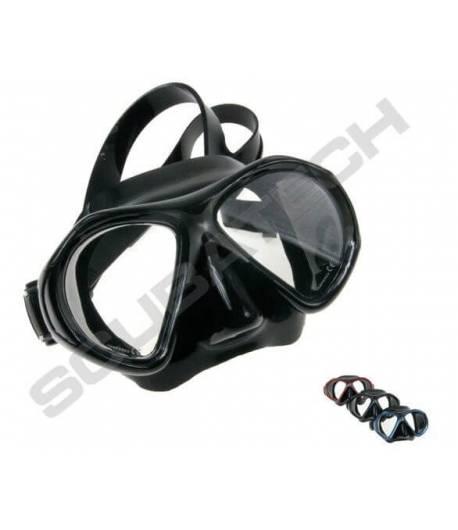 Maske Viper Schwarz mit Silber Rahmen