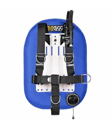 X-DEEP ZEOS 28 Standard Alu Backplate mit Bleitaschen M Blau