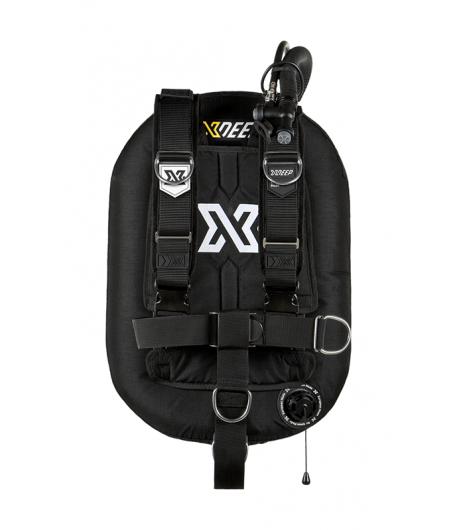 X-DEEP ZEOS 28 Deluxe Alu Backplate mit Bleitaschen M Schwarz