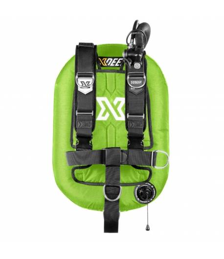 X-DEEP ZEOS 28 Comfort SS Backplate mit Bleitaschen M Grün