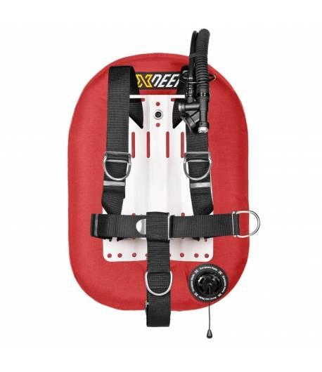 X-DEEP ZEOS 38 Standard Alu Backplate ohne Bleitaschen Rot