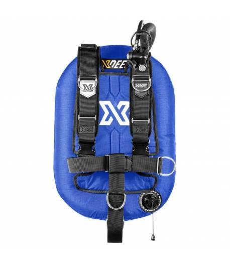 X-DEEP ZEOS 38 Comfort Alu Backplate ohne Bleitaschen Blau