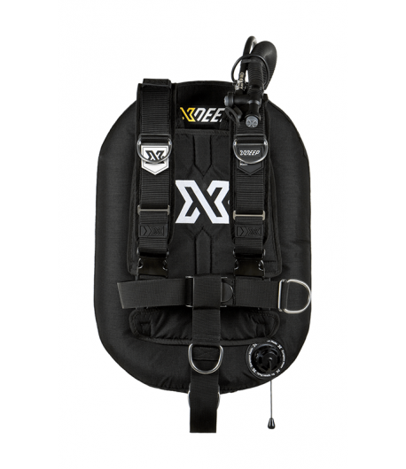 X-DEEP ZEOS 38 Deluxe SS Backplate mit Bleitaschen M Schwarz